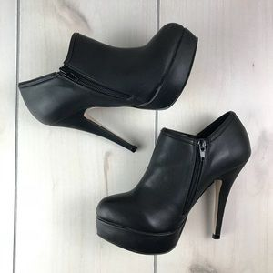 Madden Black Platform High Heel Booties 6M